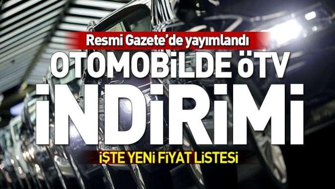 Otomotiv sektörüne ÖTV düzenlemesi.