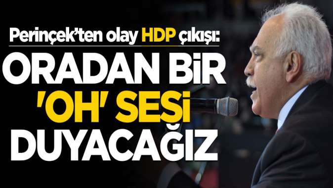 """Perinçek'ten çok konuşulacak HDP çıkışı! """"Oradan bir 'oh' sesi duyacağız"""""""