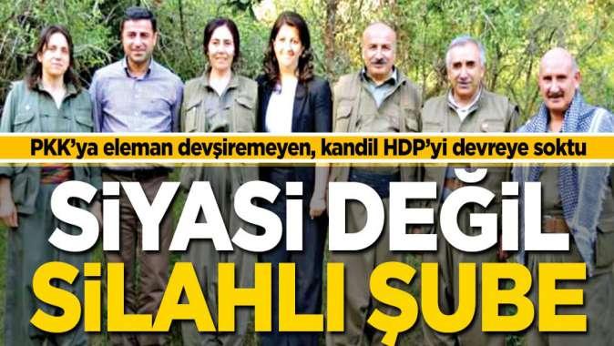 PKK'nın siyasi değil silahlı şubesi: HDP!