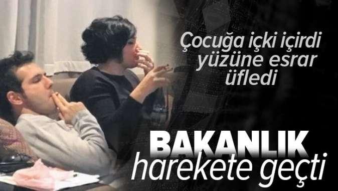 Şafak Susamcıoğlu'nun çocuğa esrarlı içkili işkence suçlamasına bakanlıktan soruşturma.