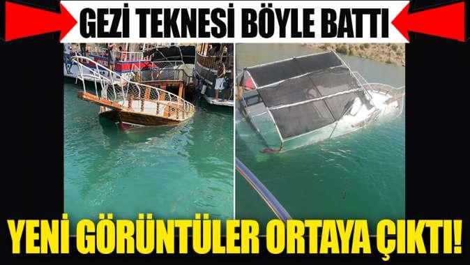 Şanlıurfa'nın Halfeti ilçesinde tur teknesi battı! Olaydan yeni görüntüler ortaya çıktı