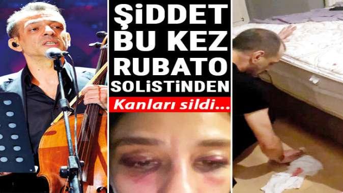 Şiddet bu kez Rubato'nun solistinden: Yerdeki kanları temizledi