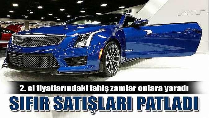 Sıfır araç satışlarında büyük yükseliş