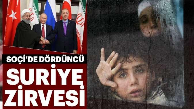 Soçi'de dördüncü Suriye zirvesi.