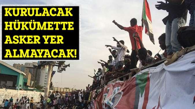 Sudanda yeni kurulacak hükümette asker olmayacak!