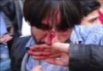 1 Mayıs yürüyüşünde HDP'lilere yumruklu saldırı