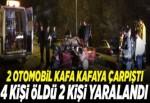2 otomobil çarpıştı: 4 ölü