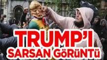 ABD'de göstericiler durdurulamıyor! Trump'ı ne hale getirdiler