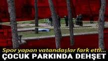 Adana'da çocuk parkında korkunç olay.