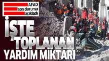 AFAD Elazığ ve Malatya depremi mağdurları için toplanan parayı açıkladı
