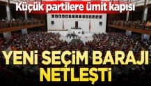 AK Parti'nin yeni seçim yasası hazır! Baraj netleşti