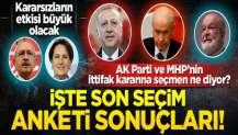 AK Parti ve MHP tabanı 'ittifak' istiyor