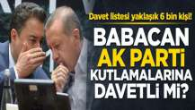 Ak Parti yıldönümünü kutlamaya hazırlanıyor! Babacan davetli mi?