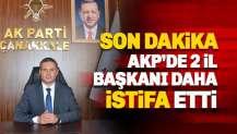AKP'de istifa dalgası: İki İl başkanı daha istifa etti