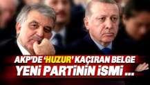 AKP'nin huzurunu kaçıran Babacan'ın yeni partisinin adı Huzur Partisi