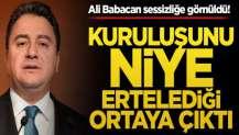 Ali Babacan sessizliğe gömüldü! Kuruluşunu niye ertelediği ortaya çıktı