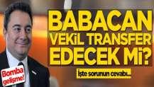 Ali Babacan vekil transfer edecek mi? İşte sorunun cevabı