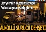 Alkollü sürücü zincirleme kazaya sebep oldu! 3'ü polis 7 kişi yaralandı