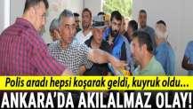 Ankara'da akılalmaz olay! Polis aradı hepsi koşarak geldi, kuyruk oldu…