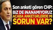Anket sonuçlarını gören CHP Genel Başkan Yardımcısı: Acaba anketörlerde mi sorun var?