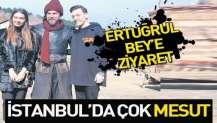 Arsenal'in yıldızı Mesut Özil, nişanlısı Amine Gülşe ile İstanbul'da 'Diriliş Ertuğrul' dizisinin setini ziyaret etti.