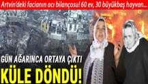 Artvin'in Yusufeli ilçesindeki yangın felaketinde acı bilanço! 60 ev, 30 büyükbaş hayvan...