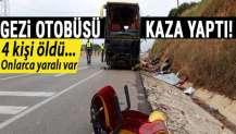 Bandırma'da gezi otobüsü kaza yaptı: 4 kişi öldü