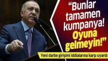 """Başkan Erdoğan'dan """"yeni darbe girişimi"""" söylentilerine yanıt."""