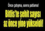 Bitlis'te askeri araca saldırı: 5 şehit