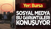 Bursa'da bulutlardaki el yazısı şekli görenleri şaşırtıyor