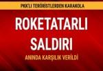 Çatak´da PKK'dan karakola taciz ateşi