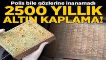 Ceylan derisine altın işlemeli 2 bin 500 yıllık Tevrat!