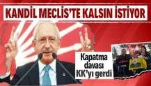 CHP lideri Kemal Kılıçdaroğlu PKK'nın sözcüsü HDP'ye yönelik kapatma davasından rahatsız
