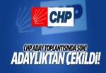 CHP Uşak milletvekili adayı adaylıktan çekildi