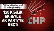 CHP'de istifa depremi! Mehmet Uğur ve 120 kişi AK Parti'ye geçti.