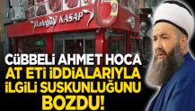 """Cübbeli Ahmet Hoca'dan """"at eti"""" iddialarına yalanlama!"""
