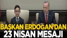 Cumhurbaşkanı Erdoğan, Beştepe'de çocukları kabul etti