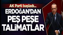 Cumhurbaşkanı Erdoğan'dan peşpeşe talimatlar