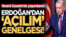 """Cumhurbaşkanı Erdoğan'dan 'Roman açılımı' genelgesi: """"Her türlü destek ve yardım sağlanacak"""""""