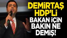 Demirtaş, HDP'li bakan için bakın ne demiş?