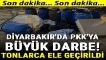 Diyarbakır'da PKK'ya büyük darbe! Tonlarca ele geçirildi...