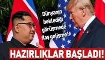 Donald Trump - Kim Jong-un görüşmesinde flaş gelişme! Hazırlıklar başladı....