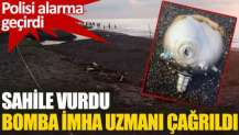 Düzce'de kıyıya mayın tetikleyicisi vurdu