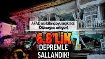 Elazığ'da 6,8 şiddetinde deprem! AFAD acı bilançoyu açıkladı: Ölü sayısı artıyor.