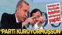 Erdoğan ile Davutoğlu telefon görüşmesi yaptı!