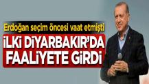 Erdoğan seçim öncesi vaat etmişti! İlki açıldı