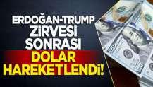 Erdoğan-Trump zirvesi sonrası dolar hareketlendi!