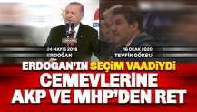 Erdoğan'ın seçim vaadiydi: AKP ve MHP'den cemevlerine ret