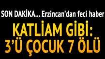 Erzincan'da trafik kazası: 7 ölü, 3 yaralı