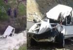 Erzurum'da otomobil dereye yuvarlandı: 2 kişi kayıp